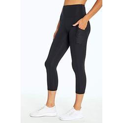 Bally Total Fitness Damen Dana High Rise Mid Calf Pocket Leggings, Damen, Caprihose, Dana High Rise Mid-Calf Pocket Legging, schwarz, Medium