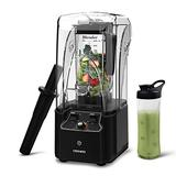 CRANDDI Blender, Quiet Shield Blender, High-Speed Countertop Blender with 2200W Base, 80oz BPA-free Jar for Family/ Commercial Size Ice Crush,Smoothies, Built-in Pulse & 15-speeds Control, K90-B