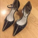 Nine West Shoes | Anne Klein Bit Buckle Kitten Heels Nwot | Color: Black/White | Size: 7