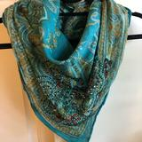 Anthropologie Accessories | Beautiful Scarf With Beaded Detail | Color: Blue | Size: Os