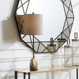 Uttermost Aurum Dark Bronze and Gold Leaf Buffet Table Lamp