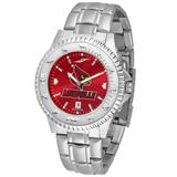"""""""Red Louisville Cardinals Competitor Steel AnoChrome Watch"""""""