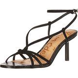 Sam Edelman womens Pippa Shoes Heeled Sandal, Black, 7.5 Wide US