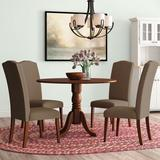 Charlton Home® Schlemmer 5 - Piece Drop Leaf Solid Wood Rubberwood Dining SetWood/Upholstered Chairs in Brown, Size 29.5 H in | Wayfair