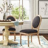 Kelly Clarkson Home Libretto Linen Upholstered Side Chair Wood/Upholstered/Fabric in Gray, Size 39.75 H x 21.0 W x 27.5 D in | Wayfair