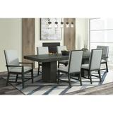 Holden 7PC Standard Height Dining Set-Table, Four Side Chairs & Two Arm Chairs in Gray - Picket House Furnishings DDV100DT7PC