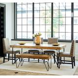 Tyler 6PC Standard Height Dining Set-Table, Four Side Chairs & Bench - Picket House Furnishings MDCZ1006PC