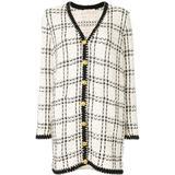 Kendra Tweed Cardi-coat - White - Tory Burch Coats