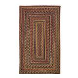 """Capel American Heritage Woodstone 5' 0"""" x 8' 0"""" Concentric Rectangle Braided Rug"""