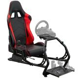 Vivo Simulator Cockpit PC & Racing Game Chair Faux Leather in Black, Size 44.5 H x 21.5 W x 51.2 D in | Wayfair STAND-RACE1B