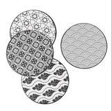 Dakota Fields Aholah 4 Piece Coaster Set w/ Holder Ceramic, Size 0.35 H x 0.35 D in | Wayfair 17D006A1BDFD427EB854FCD02C8C6D02
