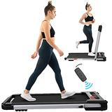 FYC 2-in-1 Folding Treadmill for Home Under Desk Treadmill Exercise Treadmill Workout Electric Foldable Running Machine Portable Compact Treadmill for Running and Walking, Installation-Free (Silver)