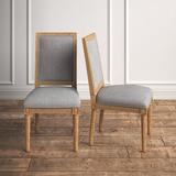 Kelly Clarkson Home Libretto Rectangular Upholstered Side Chair Wood/Upholstered/Fabric in Gray, Size 40.0 H x 21.0 W x 25.5 D in | Wayfair