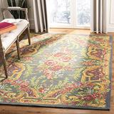 Safavieh Classic Vintage Collection CLV112F Oriental Floral Area Rug, 4' x 6', Grey / Rose