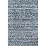 Momeni Mallorca Hand Hooked Wool Denim Area Rug 8' X 10'