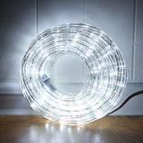33ft LED Rope Lights,110V 2 Wire Connectable Christmas Rope Lights Outdoor,240 LED Waterproof Indoor Outdoor White Rope Lights for Deck, Patio, Pool, Camping, Landscape Lighting (Daylight White)