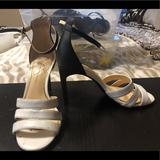 Jessica Simpson Shoes | Black And White Heeled Sandals Great Condition | Color: Black/White | Size: 6.5