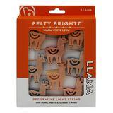 Brightz String Lights Llama - Llama 96'' Felt Icon LED Light String