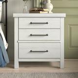 Birch Lane™ Teagan 3 Drawer Nightstand Wood in Brown/White, Size 29.5 H x 28.0 W x 17.0 D in   Wayfair ECBB5C47F09B4136BB70B01A4E540EC4