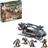 Mega Construx Halo Skiff Intercept vehicle Halo Infinite Construction Set with Spartan MK VII character figure, Building Toys for Kids