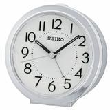 Seiko Sussex Analog Quartz Alarm Tabletop Clock Plastic/Acrylic in Gray, Size 3.5 H x 3.5 W x 1.75 D in | Wayfair QHE146SLH