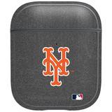 """Gray New York Mets Air Pods Metallic Case"""