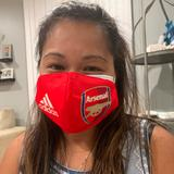 Adidas Accessories   Arsenal Reusable Cotton Face Mask Blue   Color: Blue/Red   Size: Os