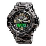 Mens Digital Watches Outdoor Sports Watch Multifunctional Chronograph 50m Waterproof Military Watches Dual Time Analog Watch