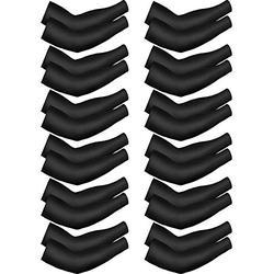 Bememo 12 Stück Unisex UV-Schutz Ärmel Lange Ärmel Kühlende Ärmel Ice Silk Arm Cover Ärmel, Damen, schwarz, 12 Pairs