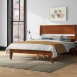 Mercury Row® Brummitt Queen Solid Wood Platform Bed Wood in Brown, Size 64.0 W x 83.5 D in   Wayfair B2D68EAF995D4906AC3081CFBC692B03