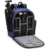 """CADeN Camera Backpack Bag with Laptop Compartment 15.6"""" for DSLR/SLR Mirrorless Camera Waterproof, Camera Case Compatible for Sony Canon Nikon Camera and Lens Tripod Accessories Blue"""