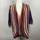 Anthropologie Sweaters   Angel Of The North Boho Tribal Cocoon Card   Color: Blue/Red   Size: Xs