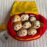 Disney Accessories | Beauty And The Beast Tsum Tsum Set | Color: Gold/Red | Size: Os