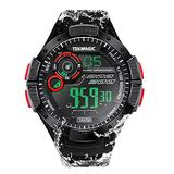 10 ATM Scuba Dive Watch Submersible Swim Watch with Chronograph, Timer Countdown, Alarm, Calendar, Stopwatch, and Dual Time Zone Display Functions