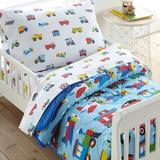 Wildkin Trains, Planes, & Trucks Cotton 4 Piece Toddler Bedding Set 100% Cotton in Red | Wayfair 624410