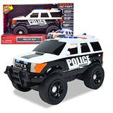 Sunny Days Entertainment Large Police Car – Lights and Sounds Vehicle with Motorized Drive and Soft Grip Tires | Rescue SUV Patrol Toy for Kids – Maxx Action