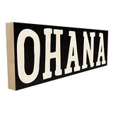Ohana. Hand-Crafted in Tennessee, This Custom Wood Block Sign Measures 4X12 Inches. an Authentic, American Made Gift for Family or Friend.