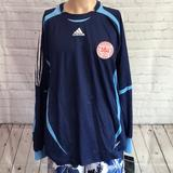 Adidas Shirts   Authentic Denmark Goal Keeper Jersey 2004-2006 Nwt   Color: Blue   Size: Xl