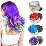 Temporary Hair Color Wax Color Hair Dye Hair Styling Hair Wax Color Nice and Easy to Wash Hair Color (4 Colors Kit)