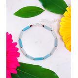 Kwanli Women's Bracelets SILVER - Amazonite & Silvertone Cylinder Beaded Bracelet