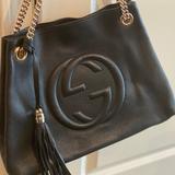 Gucci Bags   Authentic Gucci Italian Leather Shoulder Handbag   Color: Black   Size: Os
