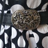 Nine West Accessories   Belt   Color: Black/Silver   Size: Large