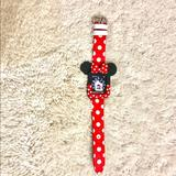 Disney Accessories | 3840mm Disney Apple Watch Leather Bandbumper | Color: Red | Size: 3840mm