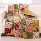 """Antique Chic Quilted Patchwork Throw Blanket by Greenland Home Fashions in Multi (Size 50"""" X 60"""")"""