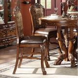"""Astoria Grand Welliver 25"""" Counter Stool Wood/Upholstered in Brown, Size 48.0 H x 21.0 W x 24.0 D in 