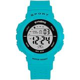 Sports Watch for Women, Women's and Girls' Watch Waterproof Digital Watch with 7 Colors Backlight (Turquoise01)
