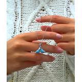 Le Caribe Women's Necklaces - Blue Larimar & Sterling Silver Whale Tale Pendant Necklace