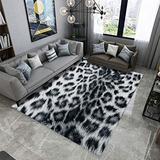 Living Artist Animal Print Area Rug 6'x8', Leopard Print Polyester Area Rug Mat for Living Dining Dorm Room Bedroom Home Decorative