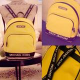 Michael Kors Bags   Beautiful Bright Michael Kors Backpack - Nwt   Color: Black/Yellow   Size: Os