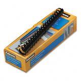 """Plastic Comb Bindings, 1"""" 200-Sheet Capacity, Black, 10 per Pack [Set of 2]"""